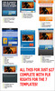 Thumbnail 7 Squeeze Style Facebook Fan Page Templates with PLR Rights