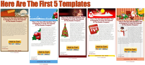 Product picture 10 Christmas Theme Facebook Fan Page Templates with PLR